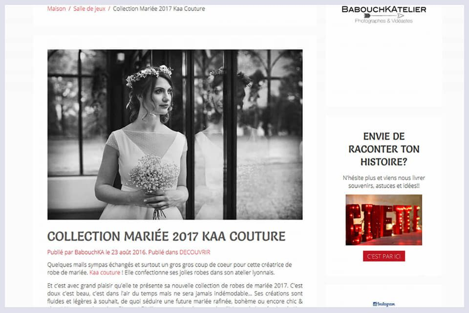 Ginette in the sky et la collection mariage 2017