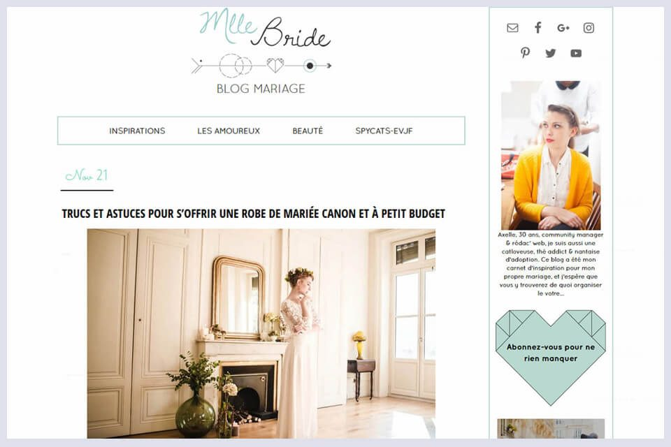 MLLE BRIDE PUBLIE LA COLLECTION DEMI-MESURE