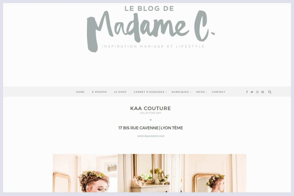 Madame C publie la collection demi mesure